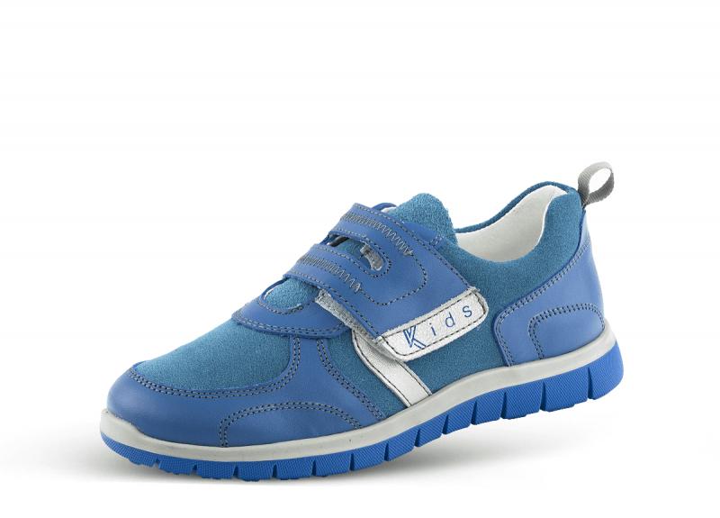 d475f17b8c7 Детски спортни обувки в светло синя напа и велур - BG-industry